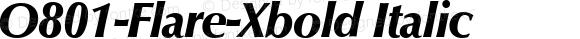 O801-Flare-Xbold Italic Version 1.0 20-10-2002