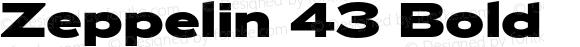 Zeppelin 43 Bold Version 1.000;PS 001.000;hotconv 1.0.38