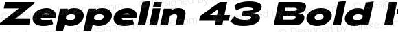 Zeppelin 43 Bold Italic Version 1.000;PS 001.000;hotconv 1.0.38