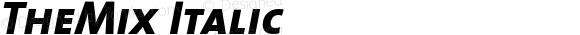 TheMix Italic Version 1.0