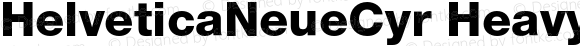 HelveticaNeueCyr Heavy