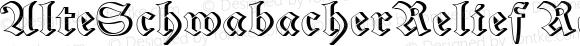 AlteSchwabacherRelief Regular Macromedia Fontographer 4.1 22/05/2002