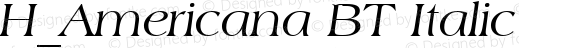 H_Americana BT Italic 1997.01.27