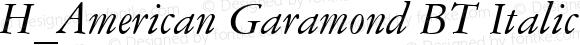 H_American Garamond BT Italic 1997.01.24