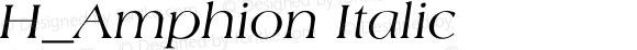 H_Amphion Italic 1000