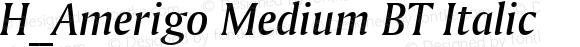 H_Amerigo Medium BT Italic 1997.01.28
