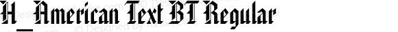 H_American Text BT Regular 1997.01.25