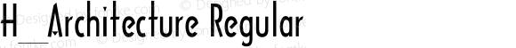 H_Architecture Regular 1000