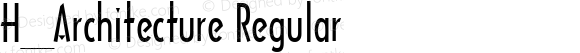 H_Architecture Regular 1997.01.16