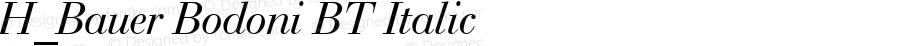 H_Bauer Bodoni BT Italic 1997.01.28