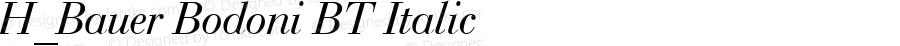 H_Bauer Bodoni BT Italic 1997.01.26