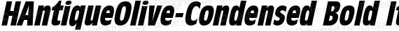 HAntiqueOlive-Condensed Bold Italic preview image