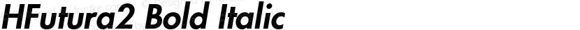 HFutura2 Bold Italic Preview Image