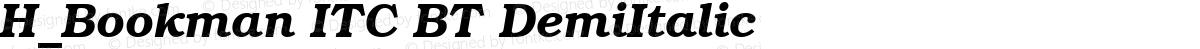 H_Bookman ITC BT DemiItalic