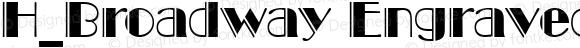 H_Broadway Engraved BT Regular 1997.01.28