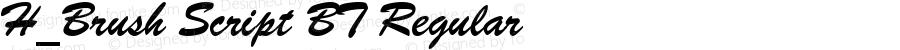 H_Brush Script BT Regular 1997.01.25