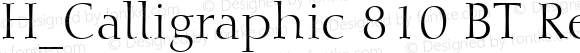 H_Calligraphic 810 BT Regular 1997.01.28