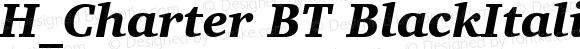 H_Charter BT BlackItalic