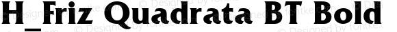 H_Friz Quadrata BT Bold 1997.01.27