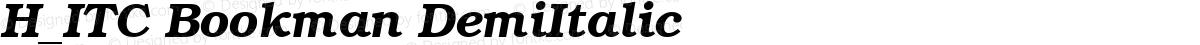 H_ITC Bookman DemiItalic