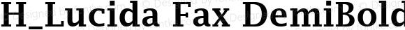 H_Lucida Fax DemiBold