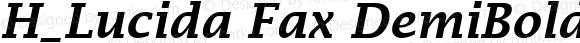 H_Lucida Fax DemiBoldItalic
