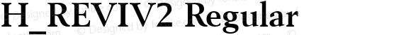 H_REVIV2 Regular 1997. 01. 27.