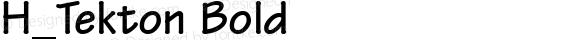 H_Tekton Bold 1.000
