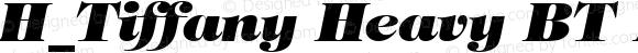 H_Tiffany Heavy BT Italic 1997.01.25