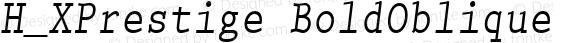 H_XPrestige BoldOblique