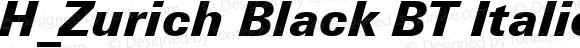 H_Zurich Black BT Italic 1997.01.25