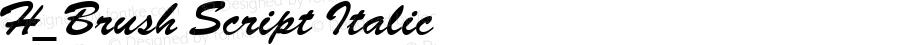 H_Brush Script Italic 1997.01.17