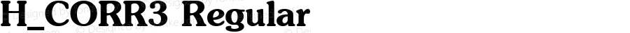 H_CORR3 Regular 1997. 01. 25.