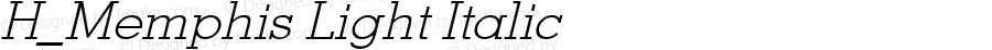 H_Memphis Light Italic 1997.01.21