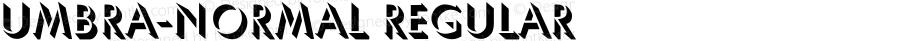 Umbra-Normal Regular Converted from C:\TRUETYPE\UMBRELHN.TF1 by ALLTYPE