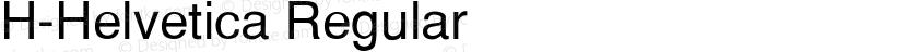 H-Helvetica Regular Preview Image