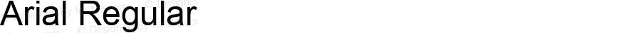 Arial Regular MS core font:V1.00