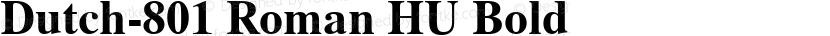 Dutch-801 Roman HU Bold Preview Image
