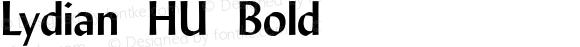 Lydian HU Bold 1.000
