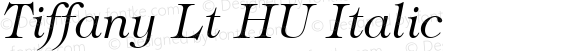 Tiffany Lt HU Italic 1.000