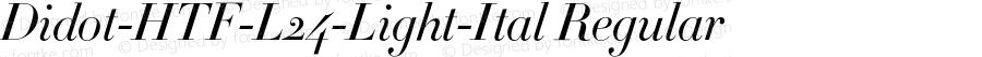 Didot-HTF-L24-Light-Ital Regular 001.000