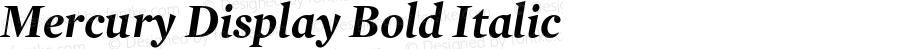 Mercury Display Bold Italic 001.000