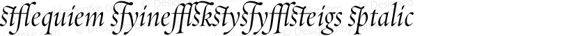 Requiem Fine-HTF-Ligs Italic Preview Image