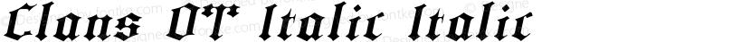 Clans OT Italic Italic Preview Image