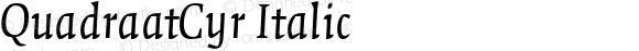 QuadraatCyr Italic