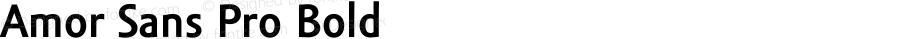 Amor Sans Pro Bold Version 1.000;PS 001.000;hotconv 1.0.38