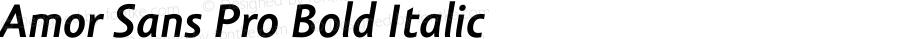 Amor Sans Pro Bold Italic Version 1.000;PS 001.000;hotconv 1.0.38