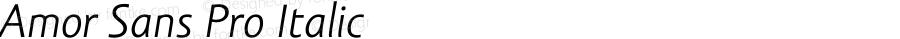 Amor Sans Pro Italic Version 1.000;PS 001.000;hotconv 1.0.38