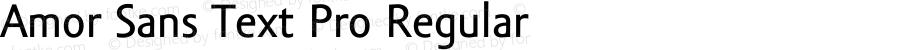 Amor Sans Text Pro Regular Version 1.000;PS 001.000;hotconv 1.0.38