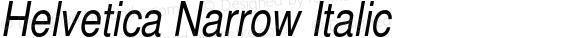 Helvetica Narrow Italic 001.003
